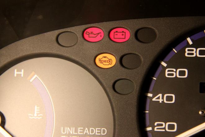 Motorstyringslampa skal lyse ved feil på avagassrensingen.