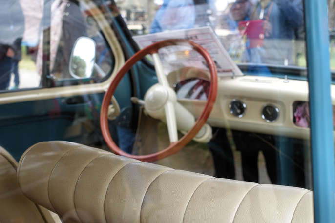 Showets mest populære var denne Renault 4 CV fra ca. 1960. Forløperen til Dauphine.