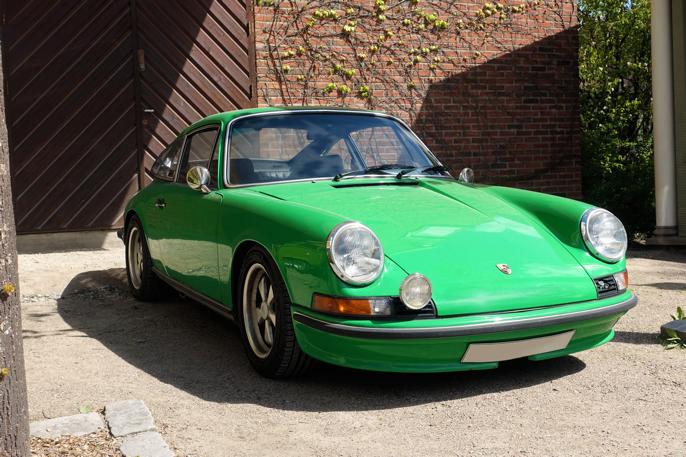 Jeg falt for denne '73 911 S i trendy 70-talls grønt.