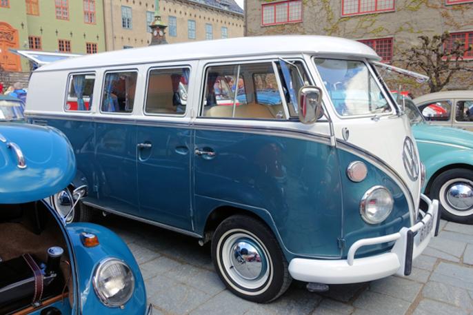 En påkostet 11-vinduers T1 buss. Jo flere vinduer, jo mer verdifull. Flest ruter hadde Samba, med totalt 23!