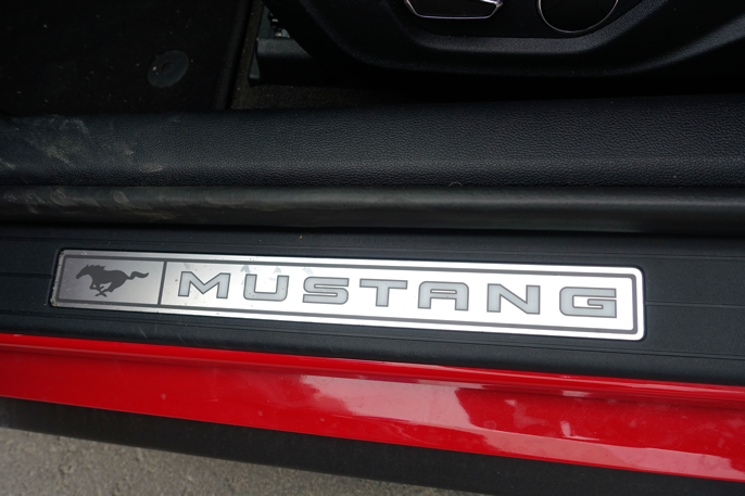 You are now stepping into a real Mustang  ...