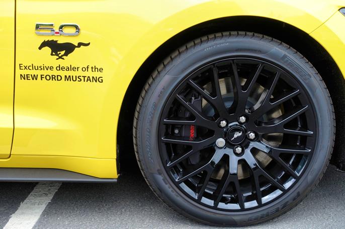 Med dette arrangementet kan man si at forhandleren holder kontakt med Mustang-miljøet.