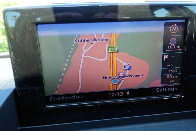 Vi kunne velge flere type navigasjonspakker. Dette er den rimeligste.