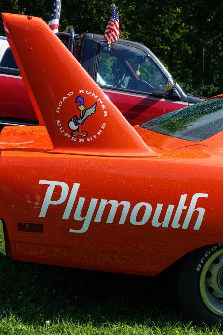 1970 Plymouth Superbird var en Roadrunner med redesignet front og hekkspoiler m.m.