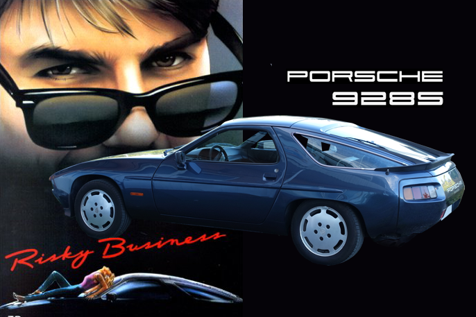 Hovedrollene i Risky Business (1983) ble spilt av Tom Cruise, Rebecca De Mornay og Porsche 928.