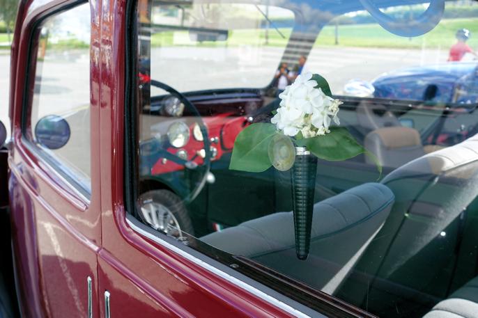"""Fiat 508 er meget vakker innvendig, og ganske rommelig for å være 4 meter lang. Dette er en førkrigs Fiat 508C, også kalt 1100 """"Balilla""""."""