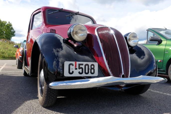 Hvilket registrerningsnummer kunne passet bedre på denne førkrigs Fiat 508C?