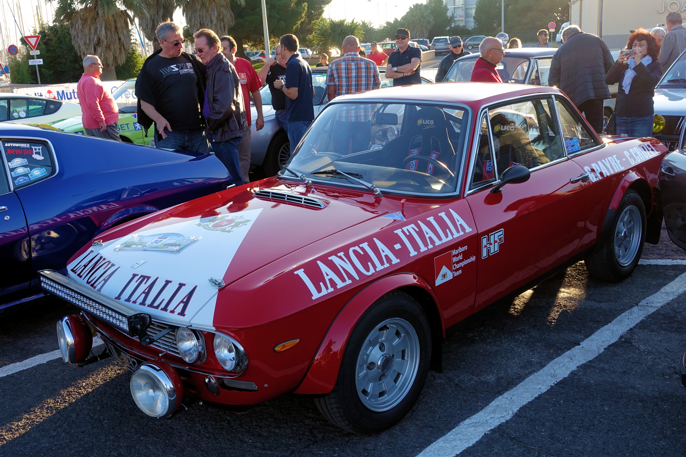 Et annet typisk innslag i et hvert Middelhavsrally: Lancia Fulvia Coupe, her i full rally-mundur.