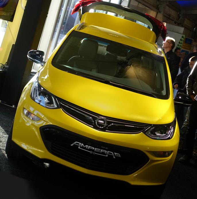 Opel Ampera e på kort Norges-visitt.