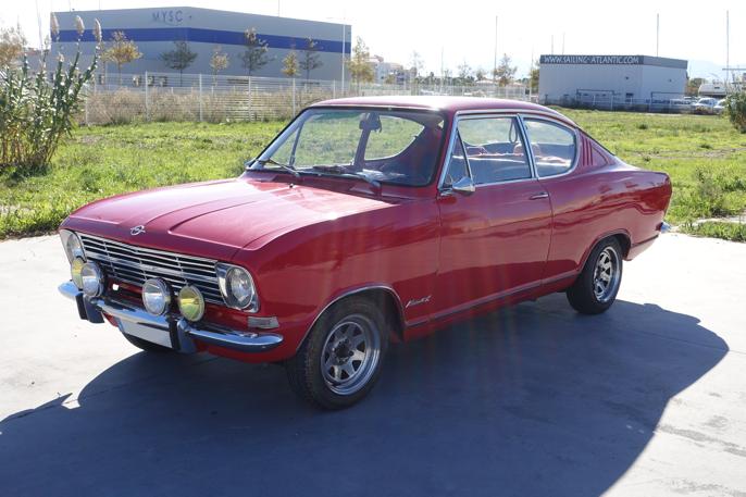 1965-70 Opel Kadett Fastback Coupe - på tysk kalt Kiemencoupé.