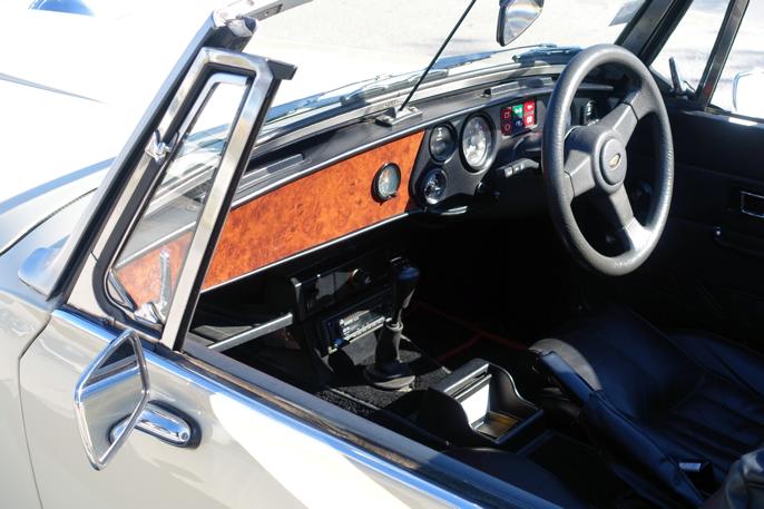 Denne Kallistaen er utstyrt med Fords 2,8 V6 (Granada-motor).