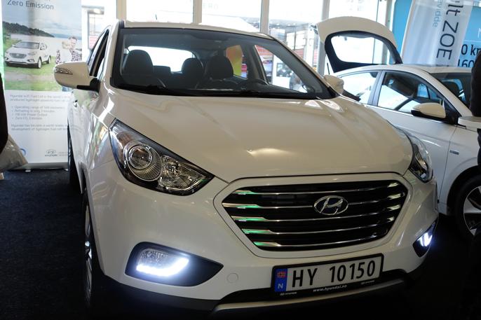 Mer konvensjonelt utseende på Hyundai ix35 Hydrogen.